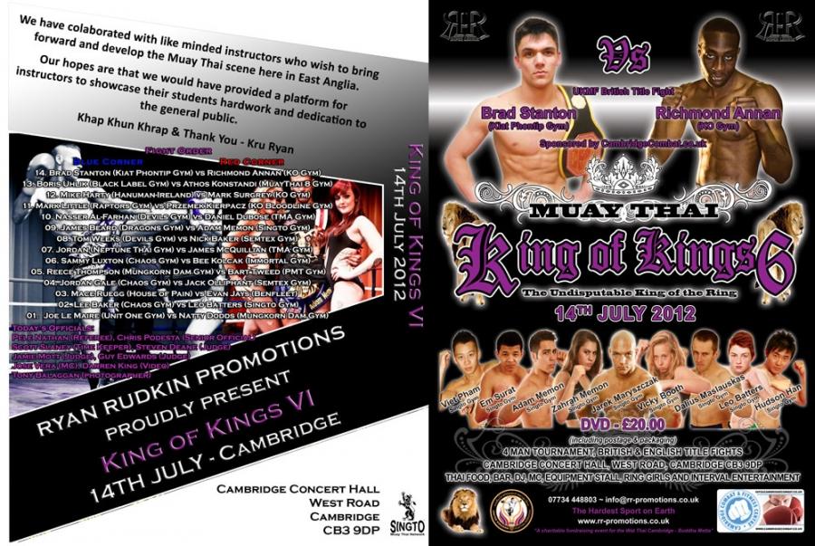Ax Muay Thai / Kickboxing Forum - King Of Kings 6 - Cambridge 14th ...